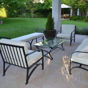 ferforje bahçe koltuk takımı