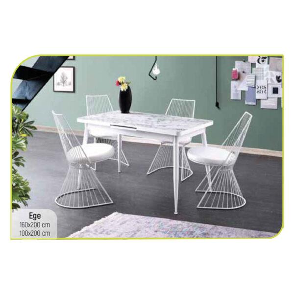 ferforje beyaz masa sandalye takımı