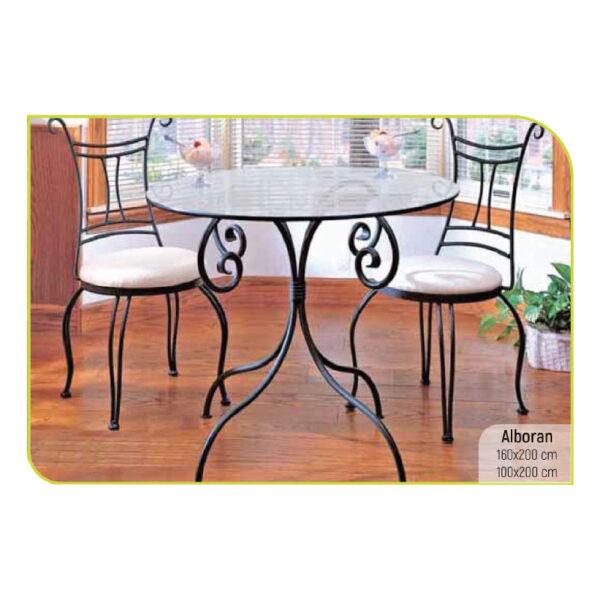 ferforje yuvarlak masa sandalye takımı