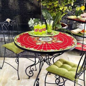 ferforje bahçe masa sandalye