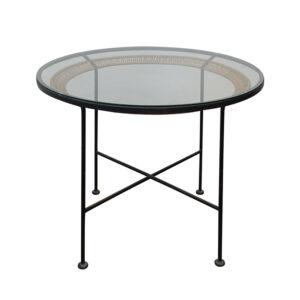 siyah ferforje masa