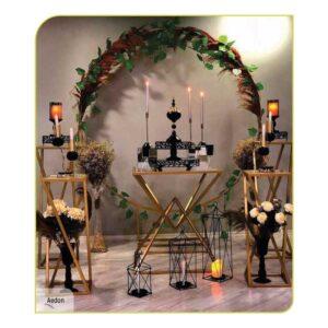 ferforje düğün çember stand