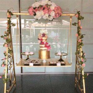 ferforje düğün pasta stand